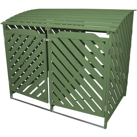 Sage Green Double Wheelie Bin Storage