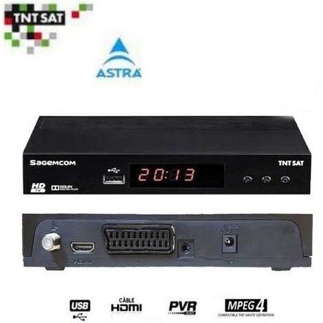 SAGEM DS81HD DECODEUR SATELLITE TNTSAT HD (ASTRA 19.2¡) (VENDU SANS CARTE)