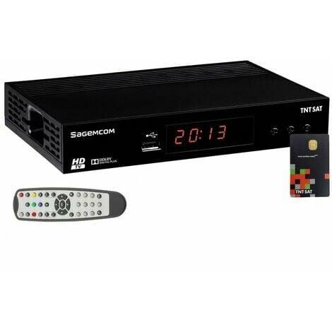 SAGEM DS81HD Décodeur satellite TNTSAT HD (vendu avec carte TNTSAT)