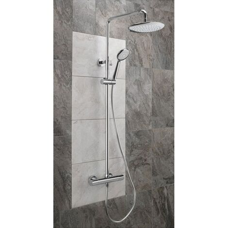 Sagittarius Aurora Deluxe Bar Shower Mixer with Shower Kit + Fixed Head - Chrome