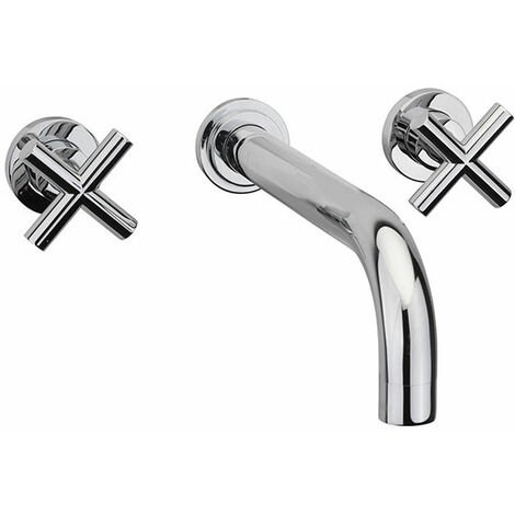 Sagittarius Avant 3-Hole Bath Filler Tap Wall Mounted - Chrome