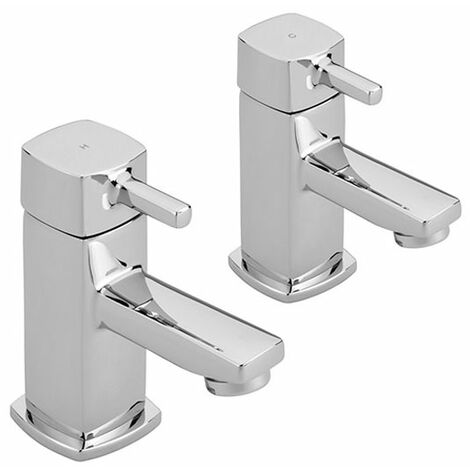Sagittarius Axis Basin Taps Pair - Chrome