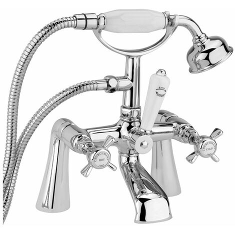 Sagittarius Churchmans Bath Shower Mixer Tap Deck Mounted - Chrome