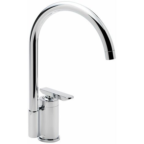 Sagittarius Eclipse Mono Kitchen Sink Mixer Tap Swivel Spout - Chrome