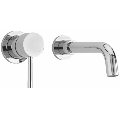 Sagittarius Ergo 2-Hole Basin Mixer Tap Wall Mounted Chrome