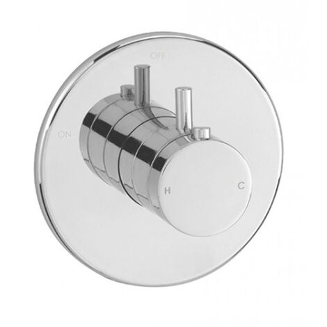 Sagittarius Ergo Mini Thermostatic Concealed Shower Valve Dual Handle - Chrome