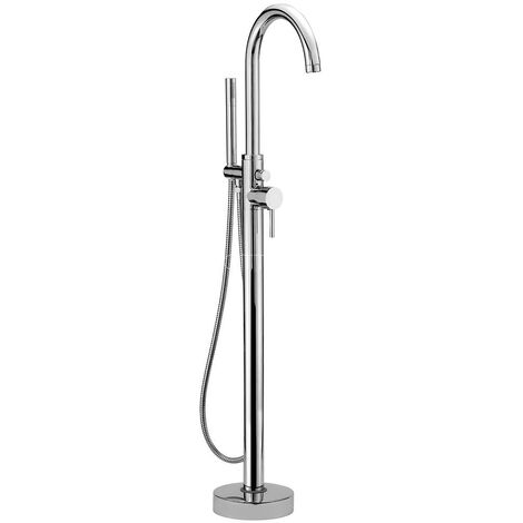 Sagittarius Ergo Mono Bath Shower Mixer Tap Floor Mounted - Chrome