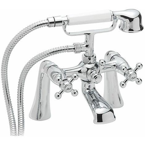 Sagittarius Fantasy Bath Shower Mixer Tap Deck Mounted - Chrome