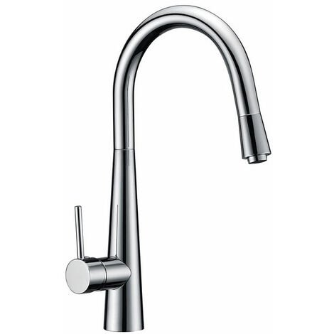 Sagittarius Flare Mono Kitchen Sink Mixer Tap - Chrome