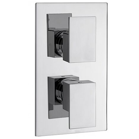 Sagittarius Flow Thermostatic Concealed Shower Valve with 2 Way Diverter - Chrome