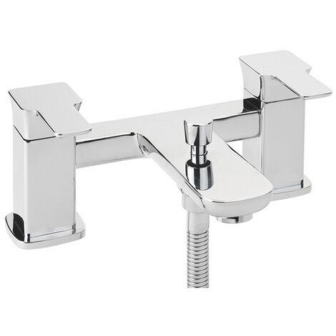 Sagittarius Gramercy Bath Shower Mixer Tap with Kit Deck Mounted - Chrome