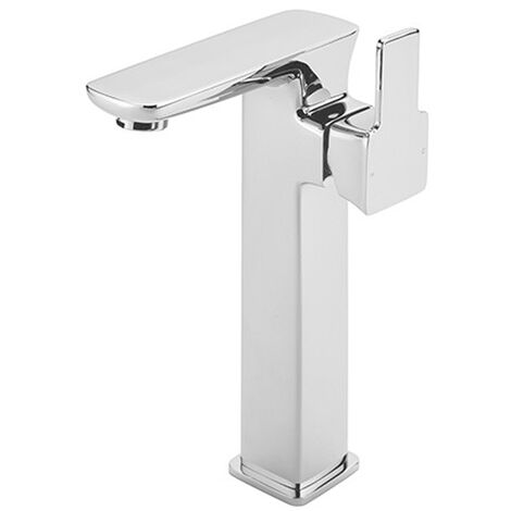 Sagittarius Gramercy Extended Tall Basin Mixer Tap with Sprung Waste - Chrome