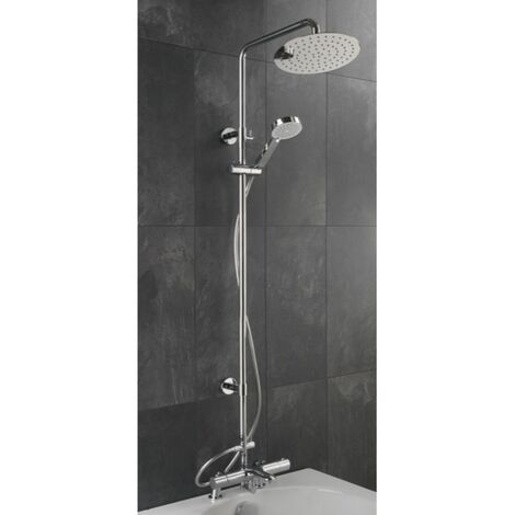 Sagittarius Logic Deck Mounted Bath Shower Mixer and Adjustable Rigid Riser Kit