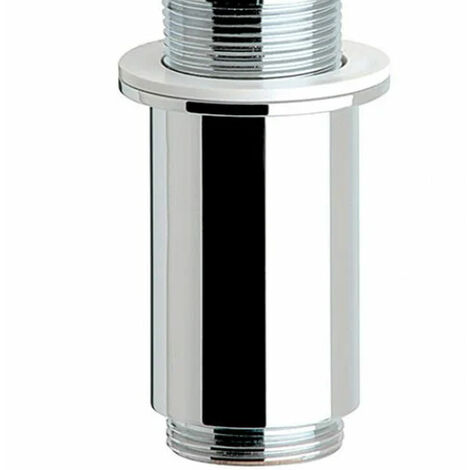 Sagittarius Long Basin Waste Shroud Chrome- Unslotted (For Basins with No Overflow)
