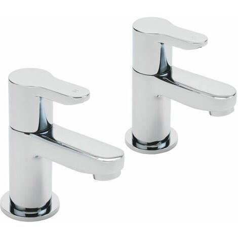 Sagittarius Plaza Basin Taps Pair - Chrome