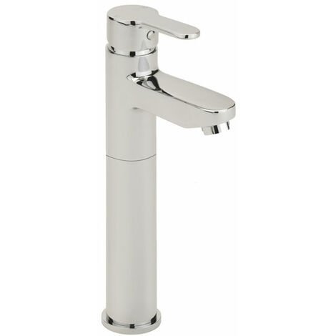 Sagittarius Plaza Tall Mono Basin Mixer Tap with Pop Up Waste - Chrome