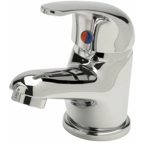 Sagittarius Prestige Contract Mono Basin Mixer Tap with Sprung Waste - Chrome