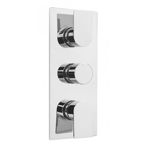 Sagittarius Scala Thermostatic Concealed Shower Valve with 3 Way Diverter - Chrome