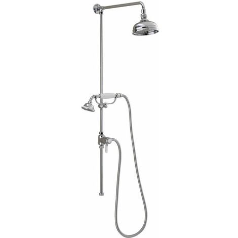 Sagittarius Traditional Shower Riser Kit with Diverter