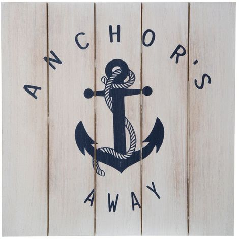 Sailor Wall Art,Anchor's Away,MDF
