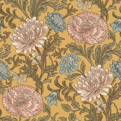 Sailsbury Cottage Floral Wallpaper Paste The Wall Country Flowers Feature Wall