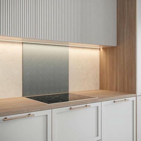 Saint-Gobain Fond de hotte en verre TAPISSSIER obtenu par Impression digitale + émaillage 70X60