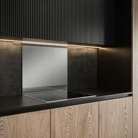 SAINT GOBAIN FOND DE HOTTE VERRE effet miroir obtenu par Impression digitale + émaillage 45X60