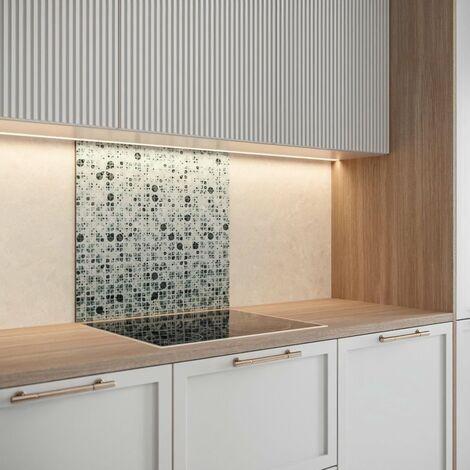 SAINT GOBAIN FOND DE HOTTE VERRE Mosaique obtenu par Impression digitale + émaillage 70X60