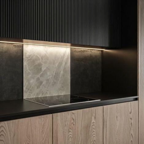 SAINT GOBAIN FOND DE HOTTE VERRE Onyx gris obtenu par Impression digitale + émaillage 45X60