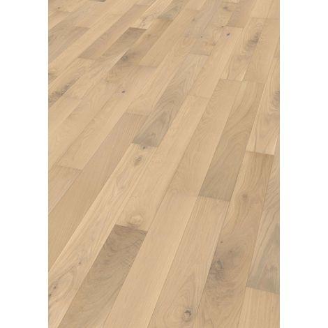 Saint Malo - Parquet chêne Contrecollé chêne brossé huilé blanchi aspect bois brut rustic 14/3 x 127 x 300 à 1085mm (colis = 0,827m2)