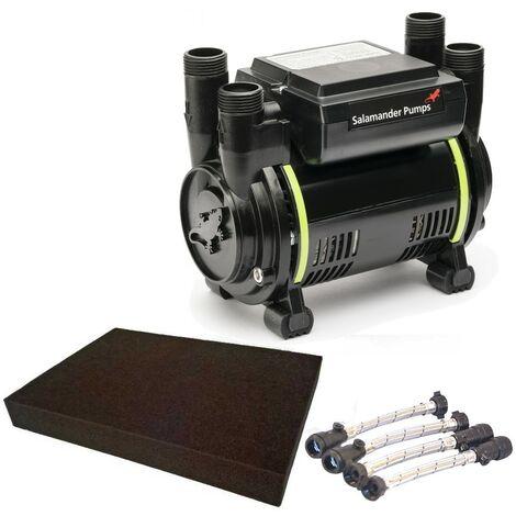 Salamander CT50 Xtra Extra 1.5 Bar Twin Shower Pump+ Hoses + Anti Vibration Matt