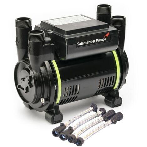 Salamander CT50Xtra Extra 1.5 Bar Positive Twin Shower Pump + Hoses CT50 XTRA