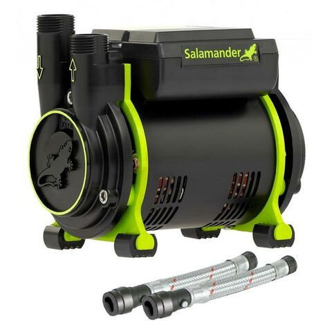 Salamander CT55+ XTRA 1.5 Bar Positive Single Shower Pump +Iso Hoses CT55PLUS