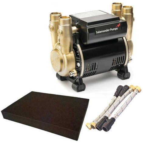 Salamander CTFORCE 30PT 3.0 Bar Brass Twin Impeller Shower Pump + Hoses + Mat