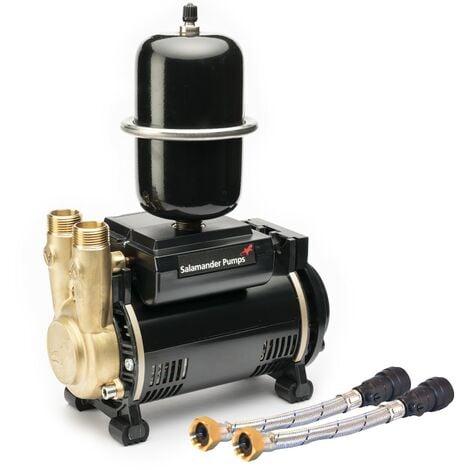 Salamander CTFORCE 30SU 3.0 Bar Brass Single Impeller Shower Pump Negative Head