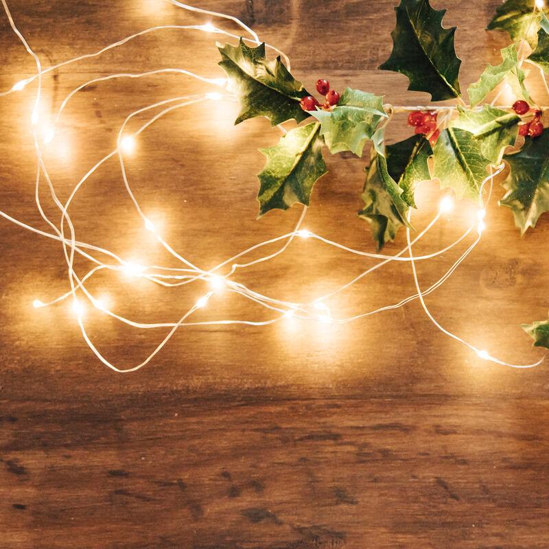 3 x LED Lichterketten Draht Batterie je 20 LEDs warmweiß Kupferdraht *Top*