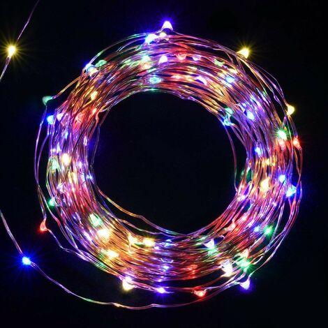 Salcar 100 LED Draht Lichterkette biegsam Micro Kupfer Draht Innenbereich & Außenbereich