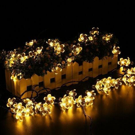 Salcar 5 Meter Solar LED Lichterkette 20 Kirschblüten Deko Beleuchtung