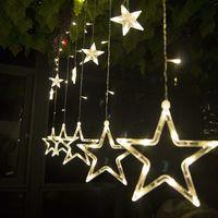 Salcar LED Lichterkette Lichtervorhang Stern mit 138 LED-Lichter für Innen, 200x100 cm
