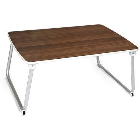 SALCAR Ordinateur Table Portable, Ordinateur Table Basse Pliable, Table légère pour Bureau à Domicile, 60 * 36 * 27,5 cm