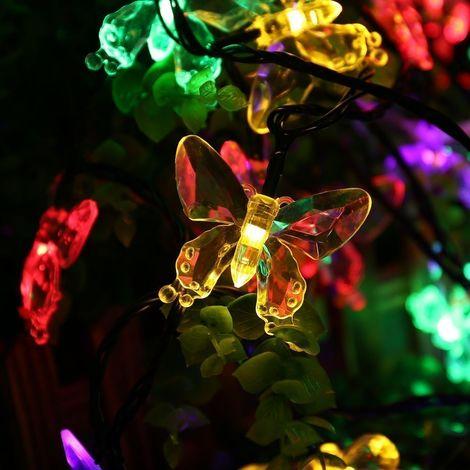 Salcar Solar LED Lichterkette Schmetterlinge 20-teilig EEK A++