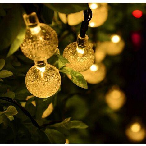 Salcar Solar Lichterkette 40 LED warmweiß Solarleuchte Solarlampe Kugeln