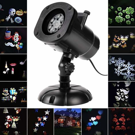 Salcar Weihnachten LED Effektlicht, LED Projektor Lichter mit 12 Motiven, Innen/Außen IP65