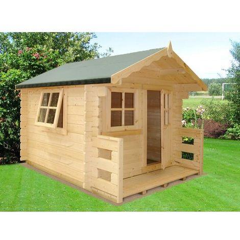 Salcey Mini Log Cabin Playhouse