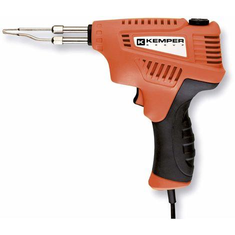 220/V Saldatore elettrico saldatura punta scalpello manico di legno strumento saldatore con punta scalpello di rame per casa 100W