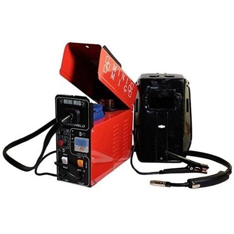 "main image of ""Saldatrice a filo NO GAS compatto 95amp TecnoWeld By Awelco - MINI MIG 11002"""