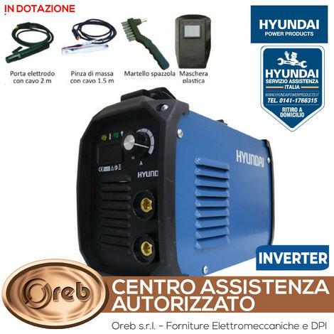 Saldatrice inverter 120a hyundai 45100 mma light duty elettrodi max 32 mm