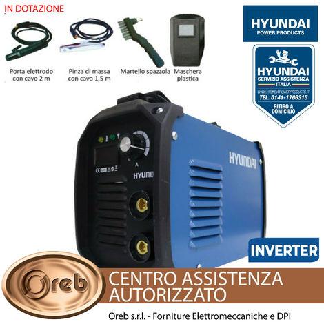 Saldatrice inverter 200a hyundai 45140 mma light duty elettrodi max 5 mm