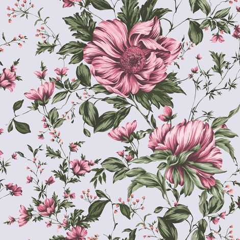 Sale Fresco Great Value Botanical Ditsy Floral Pink Multi Wallpaper (Was £13)