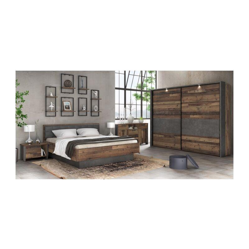 Forte Möbel - Schlafzimmer Clif mit Kommode Komplettset
